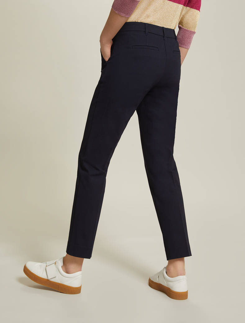 Cotton twill trousers - midnight blue - pennyblack