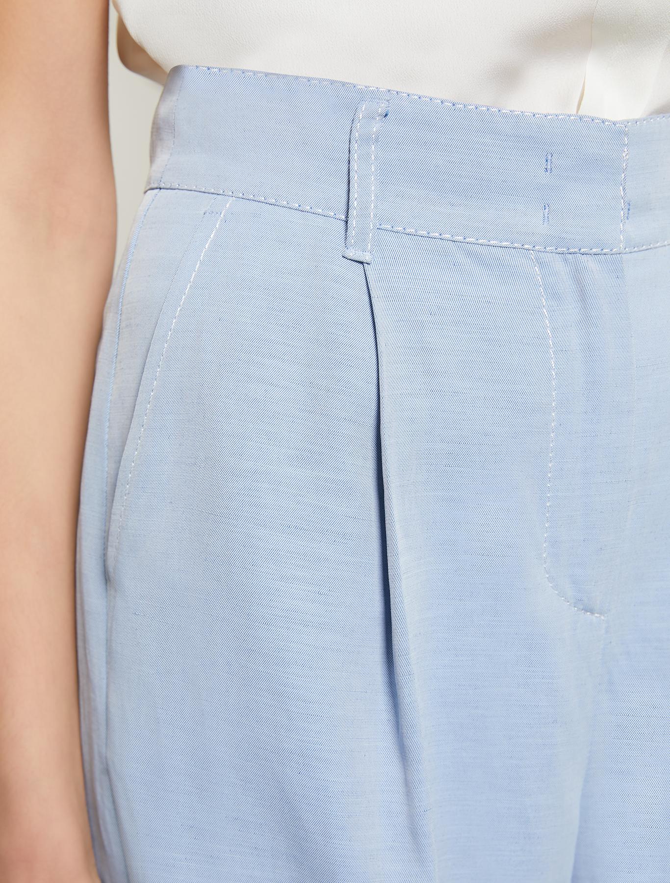 Fil-à-fil Bermuda shorts - light blue - pennyblack