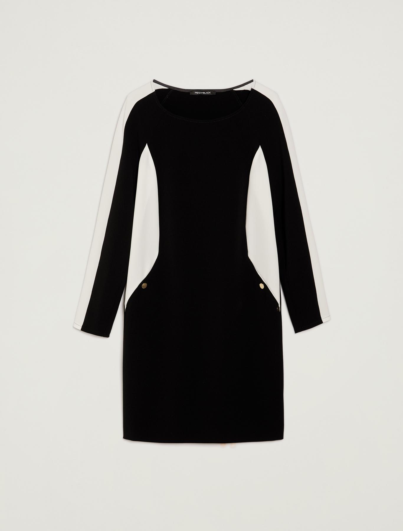 Colour block dress - black - pennyblack