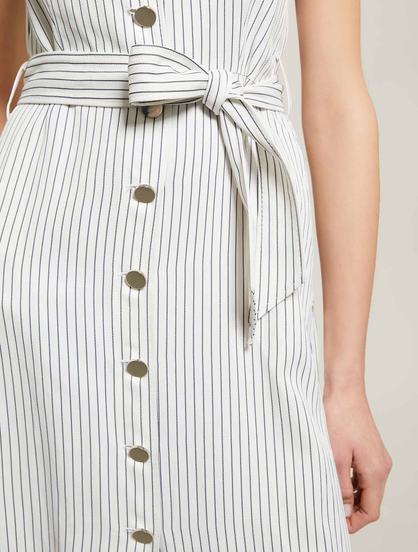 Pinstriped twill shirt dress - white pattern - pennyblack