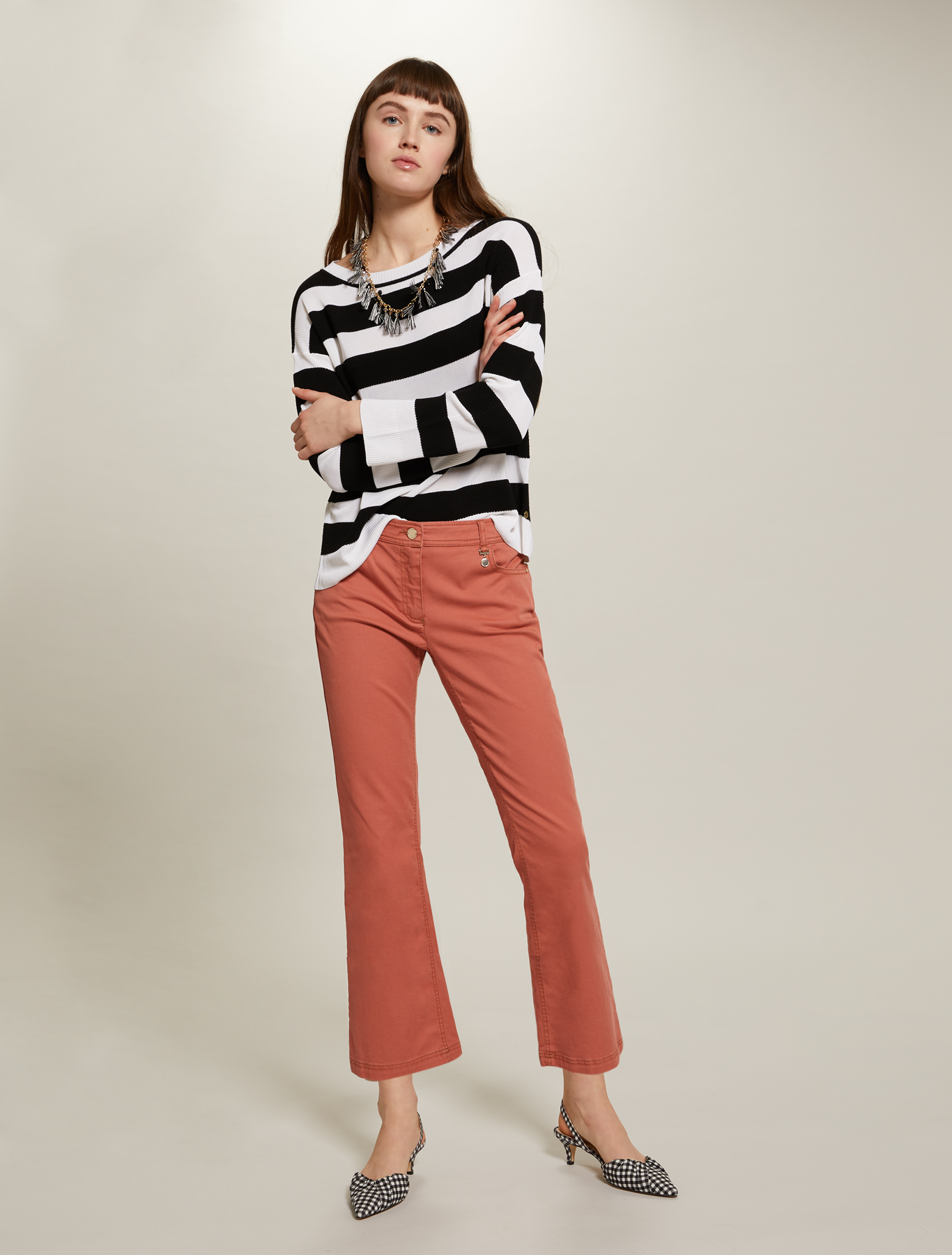 Sweater with maxi stripes - black - pennyblack