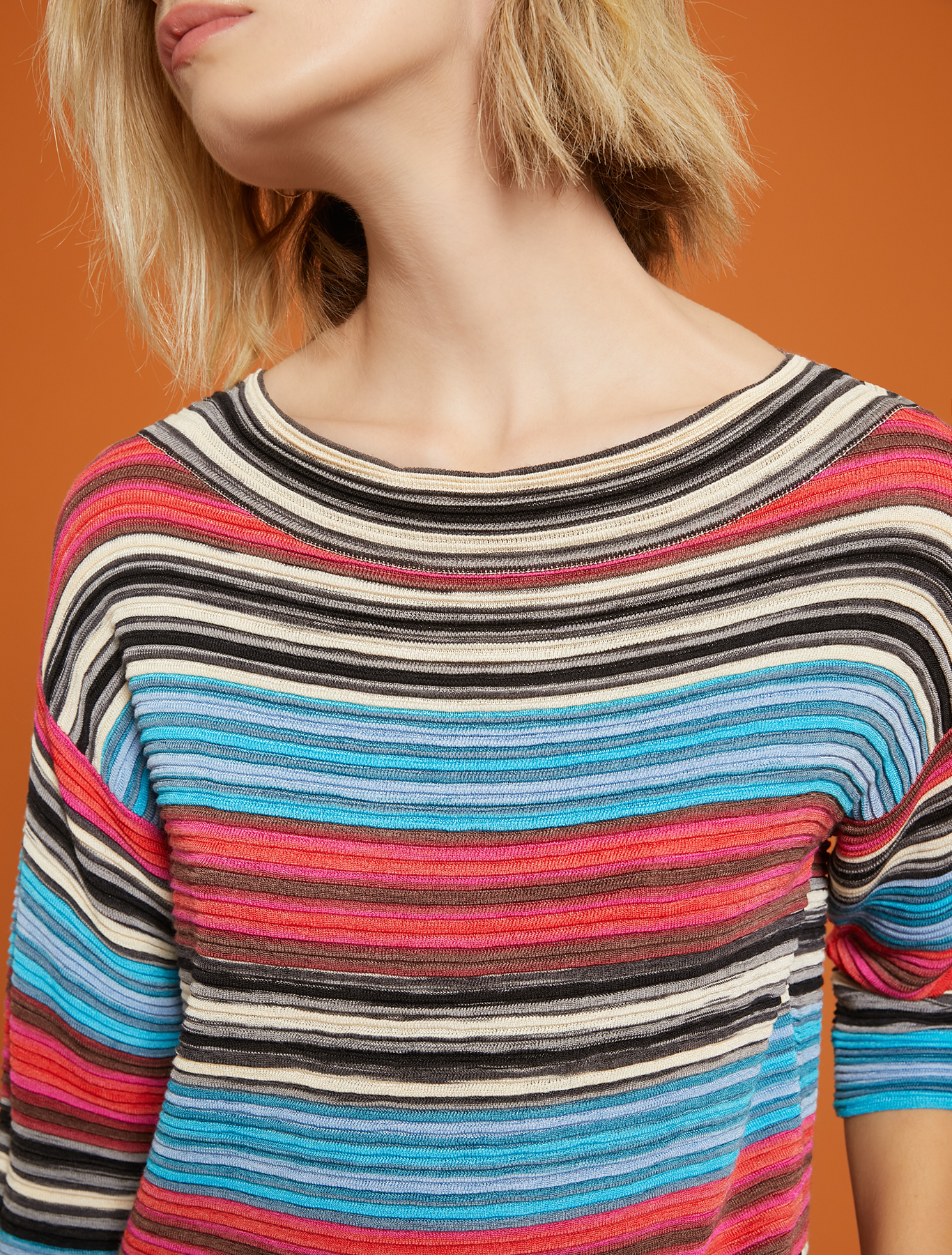 3D striped jumper - fuchsia pattern - pennyblack