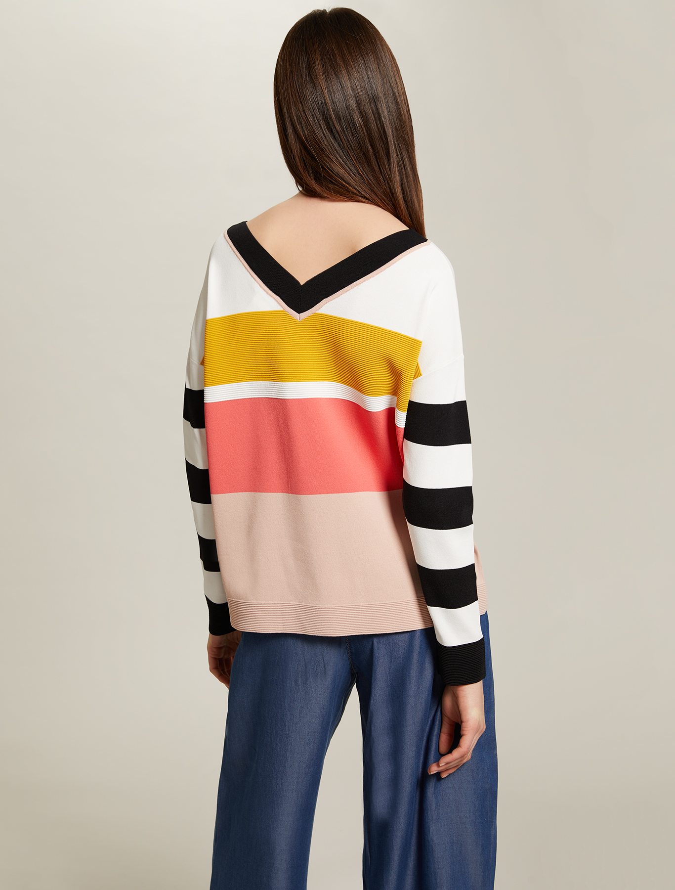 Colour block striped jumper - multi coloured - pennyblack