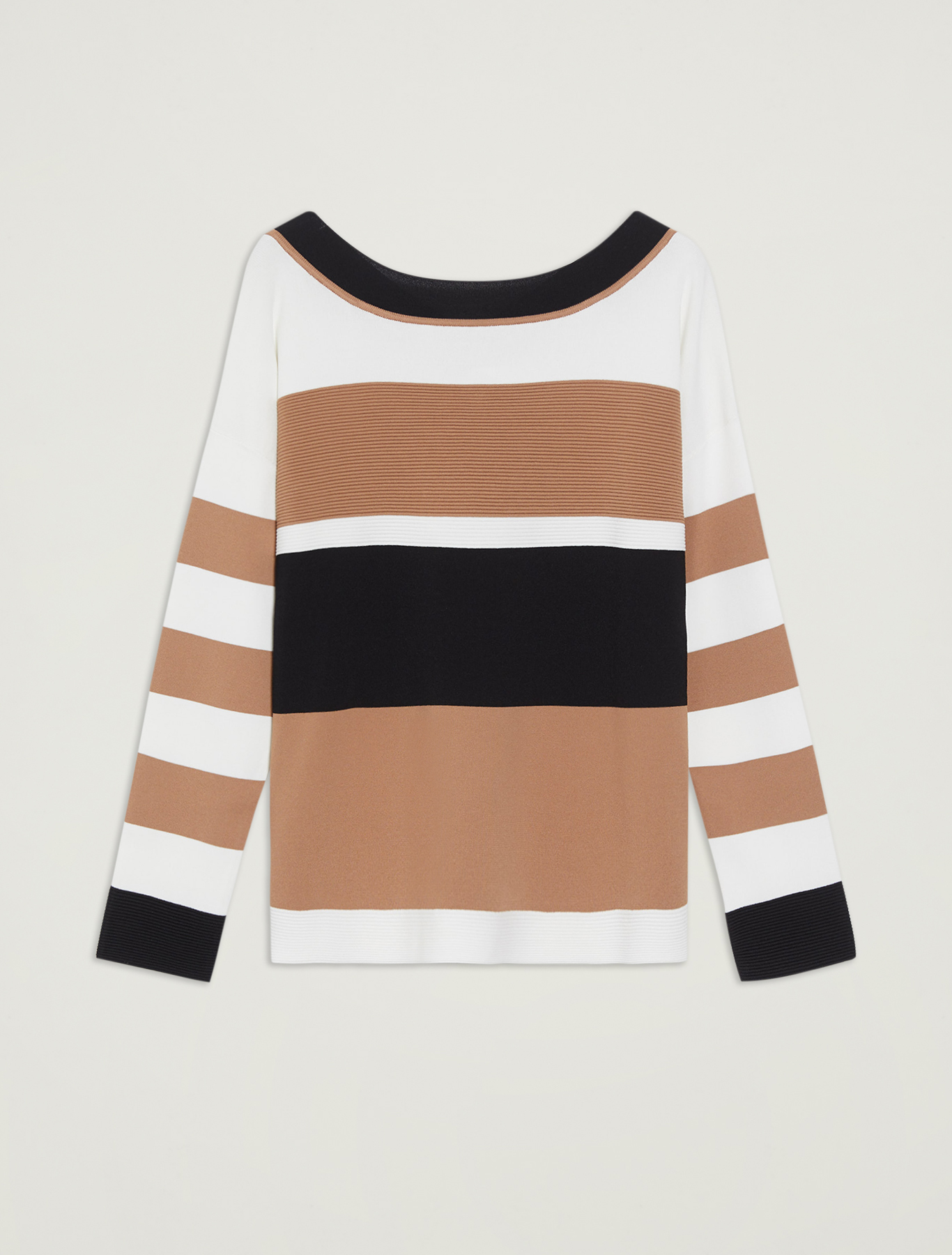 Colour block striped jumper - beige pattern - pennyblack