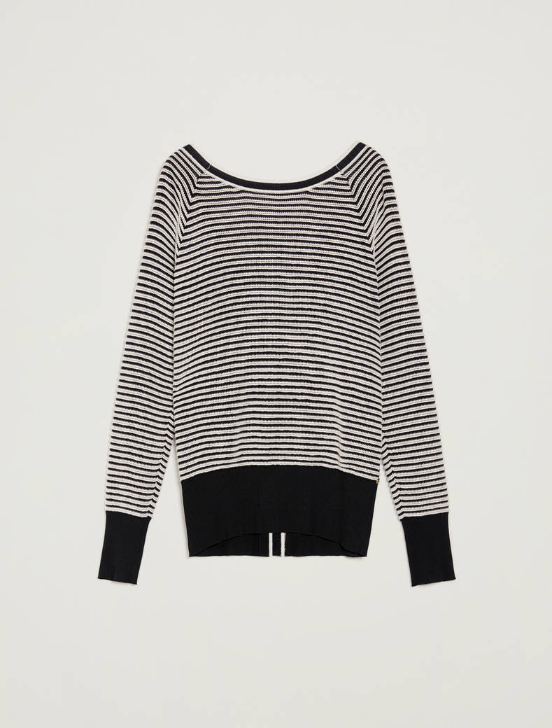 3D striped jumper - midnight blue pattern - pennyblack