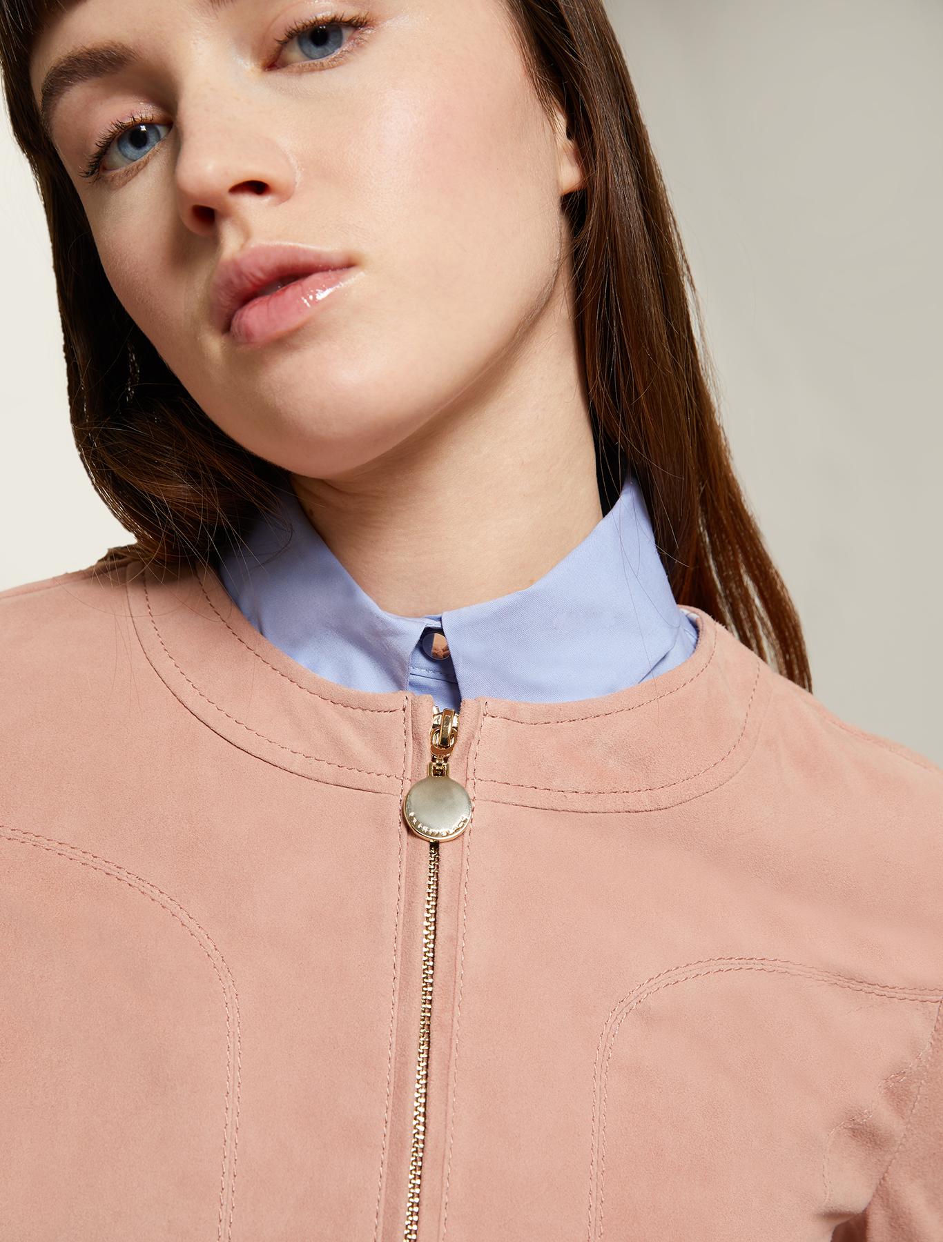 Suede jacket - pink - pennyblack