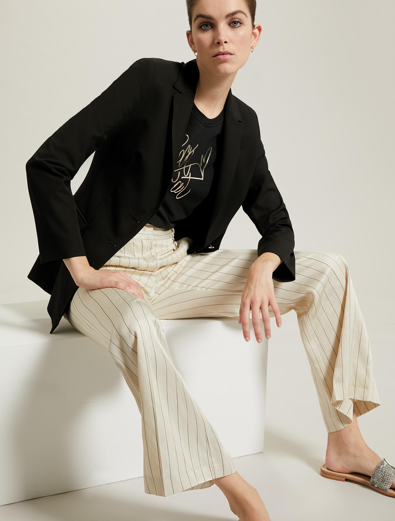 Slim jersey blazer - black - pennyblack