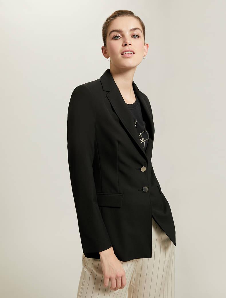 Blazer slim in jersey - nero - pennyblack