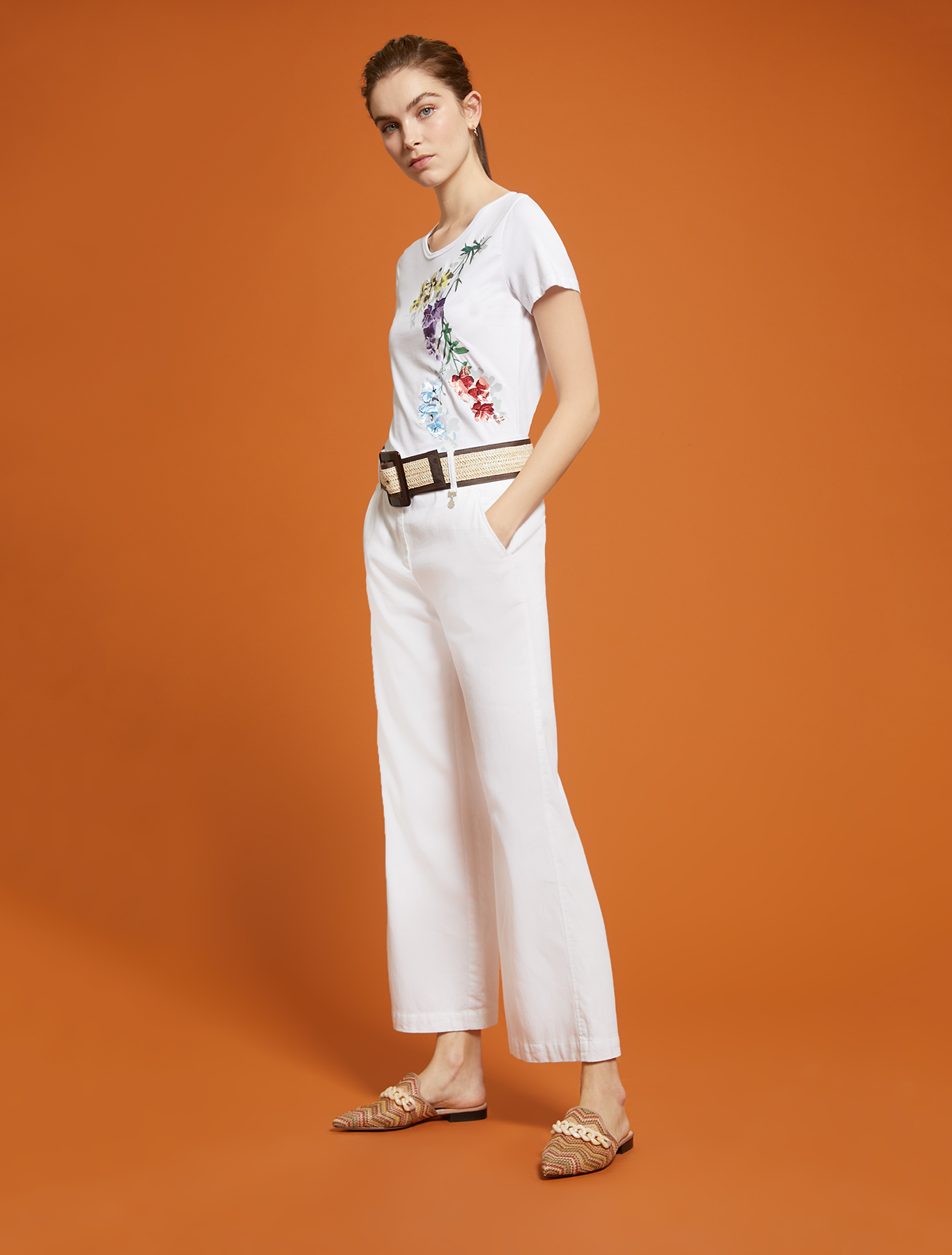 Floral ramage T-shirt - white - pennyblack