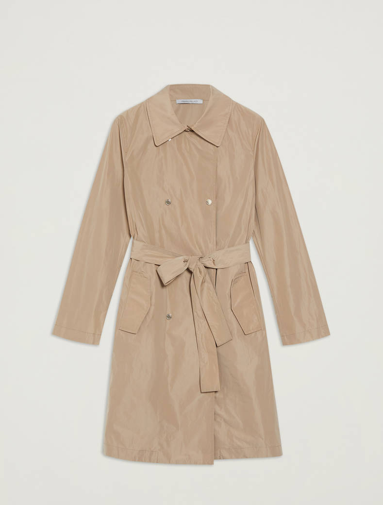 Double-breasted trench coat with belt - beige - pennyblack