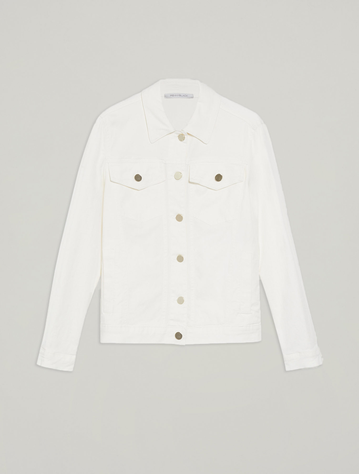 Cotton twill jacket - ivory - pennyblack