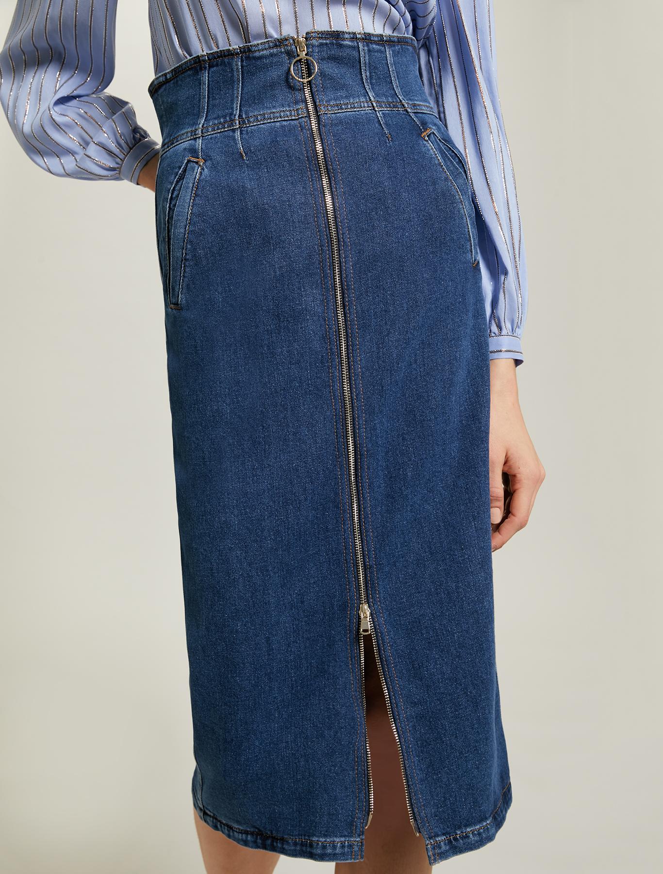 Denim pencil skirt - midnight blue - pennyblack