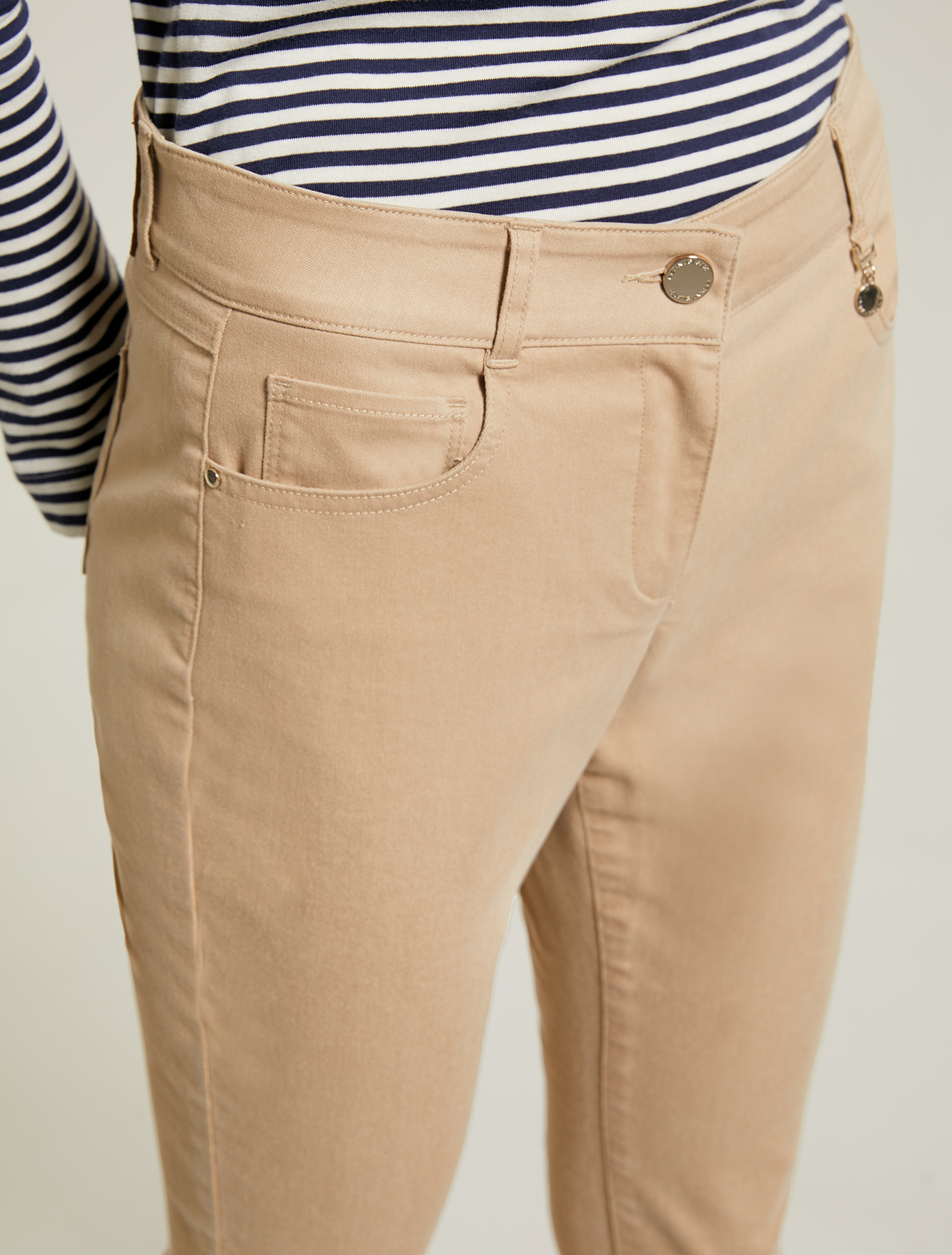 Gabardine skinny trousers - beige - pennyblack
