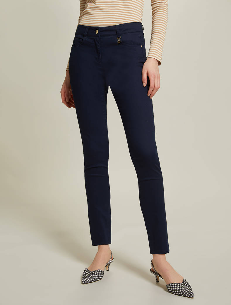 Gabardine skinny trousers - midnight blue - pennyblack