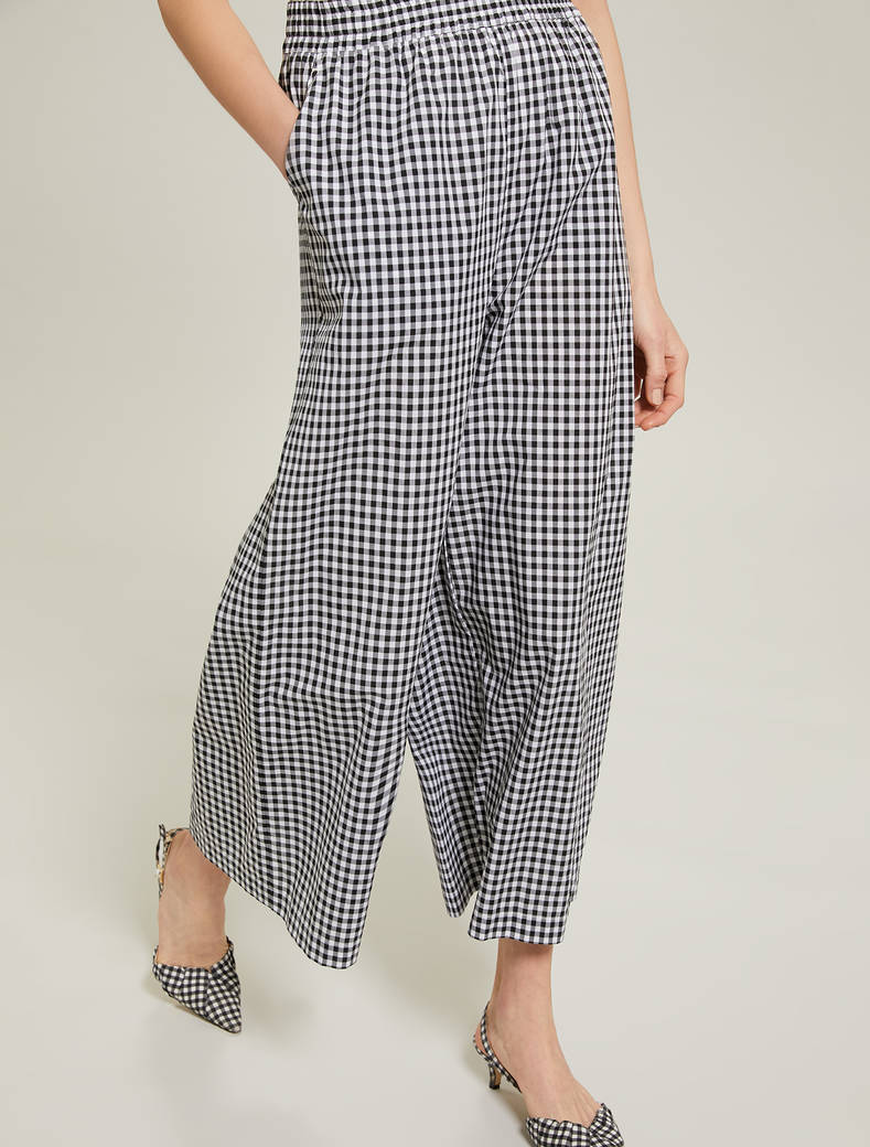 Gingham check trousers - white pattern - pennyblack