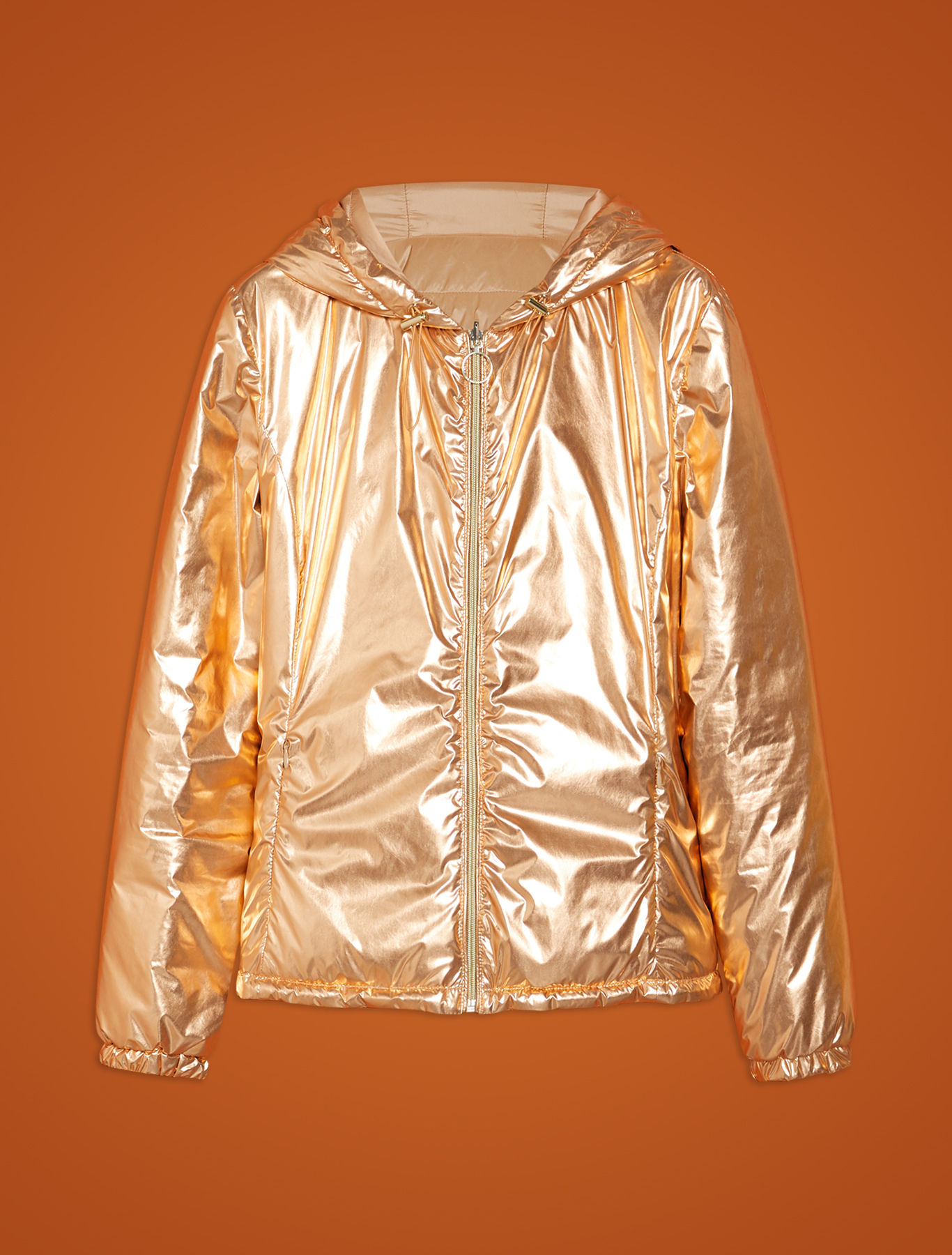 Reversible, metallic jacket - bronze - pennyblack