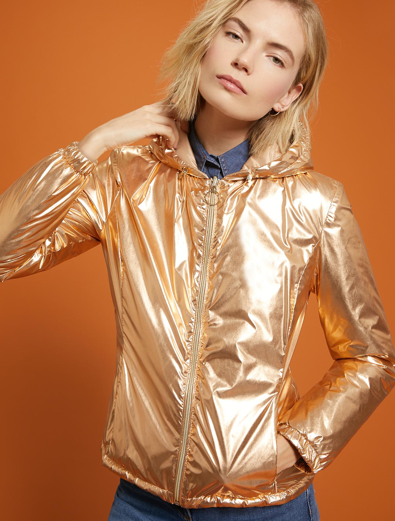 Reversible, metallic jacket - bronze - pennyblack