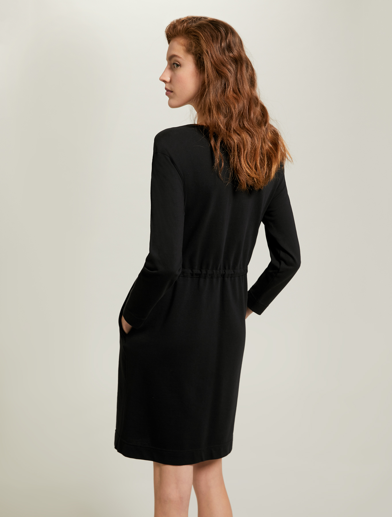 Piqué jersey dress - black - pennyblack