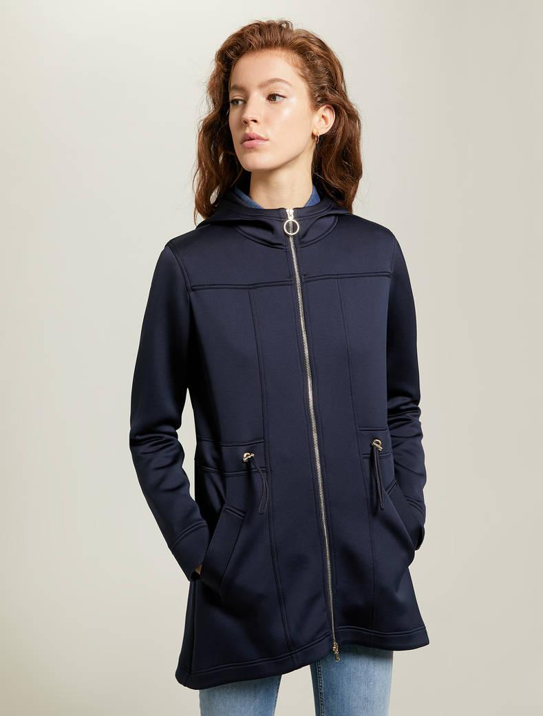 Techno-jersey parka - navy blue - pennyblack