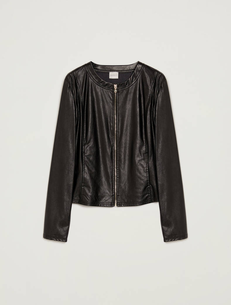 Slim jersey jacket - black - pennyblack