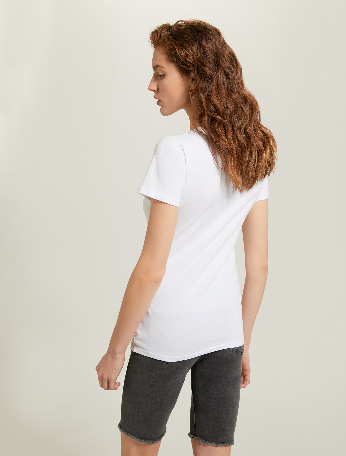Printed cotton T-shirt - optic white - pennyblack