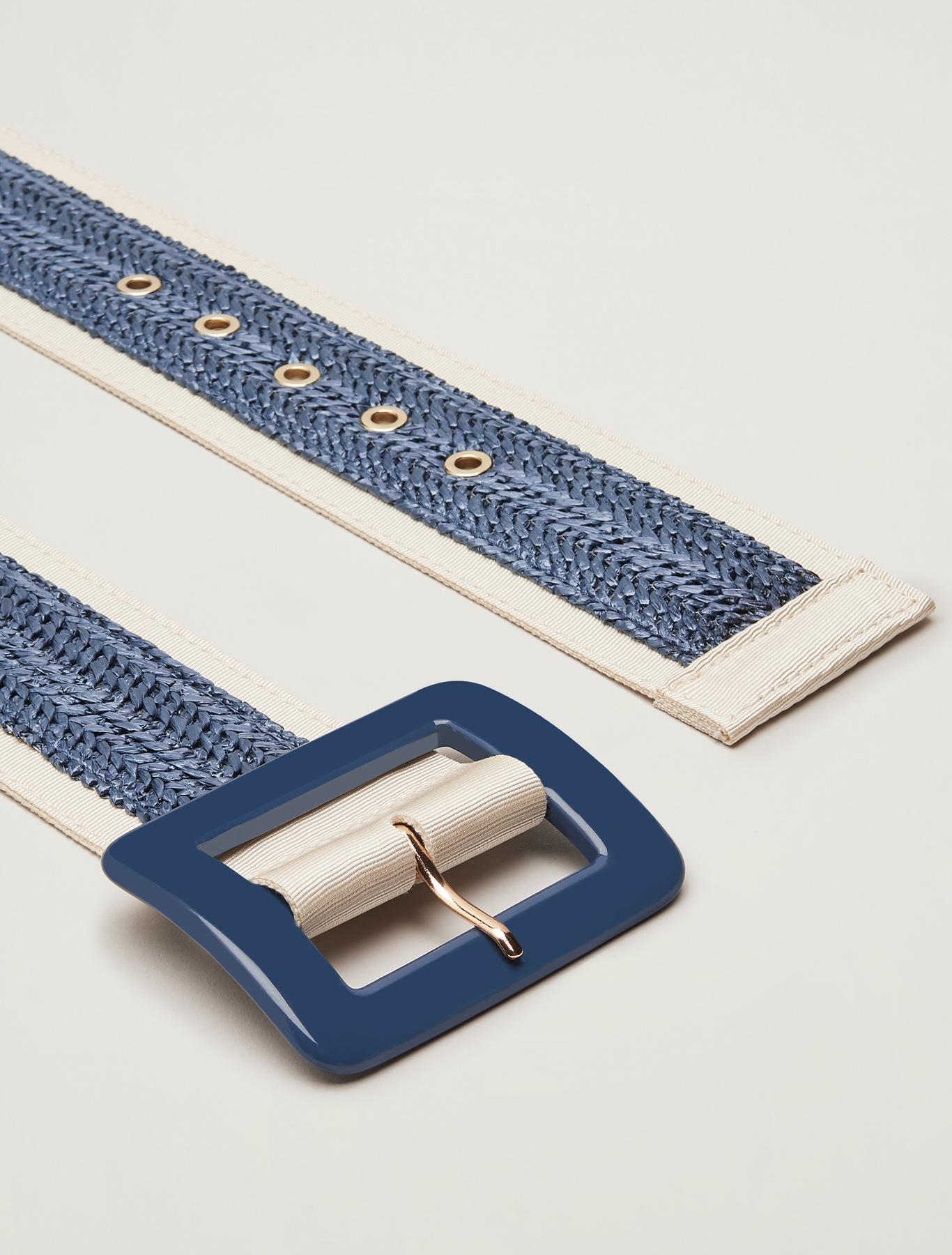 Woven raffia belt - china blue - pennyblack