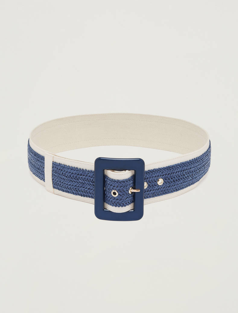 Woven raffia belt - china blue - pennyblack