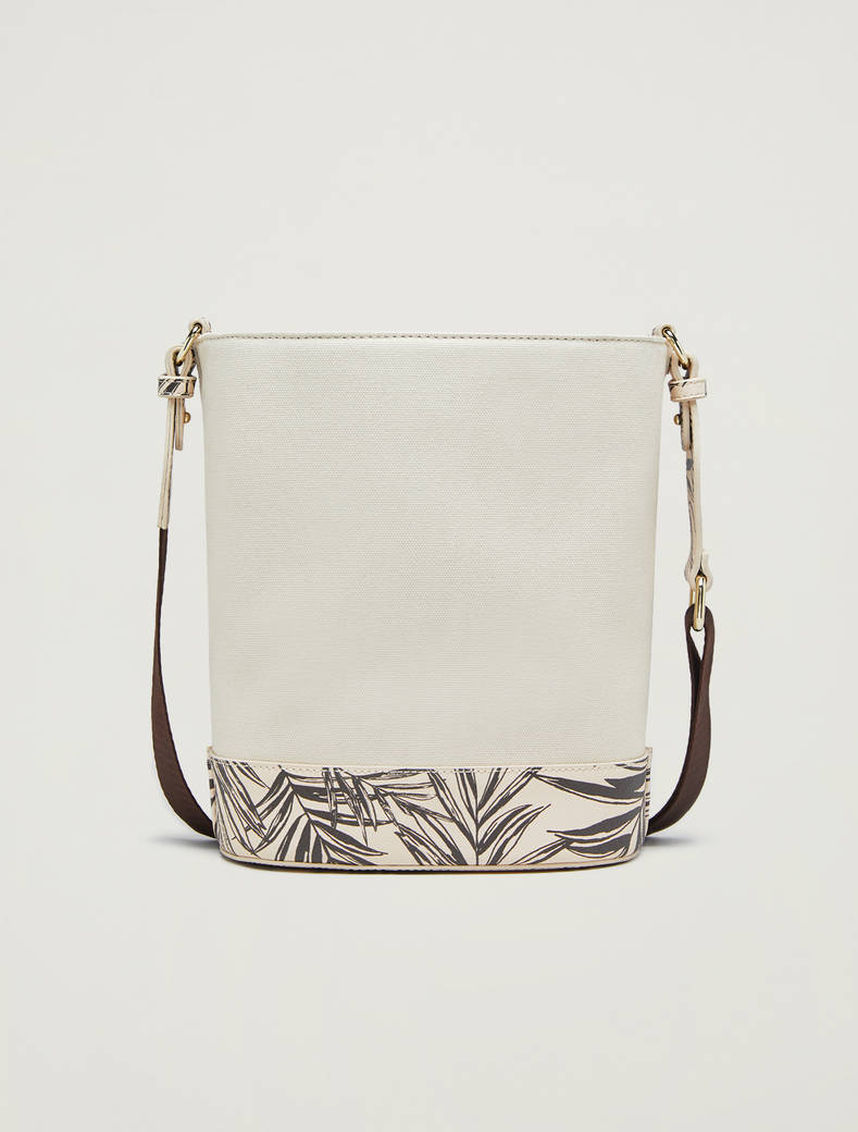 Canvas bucket bag with print - ivory - pennyblack