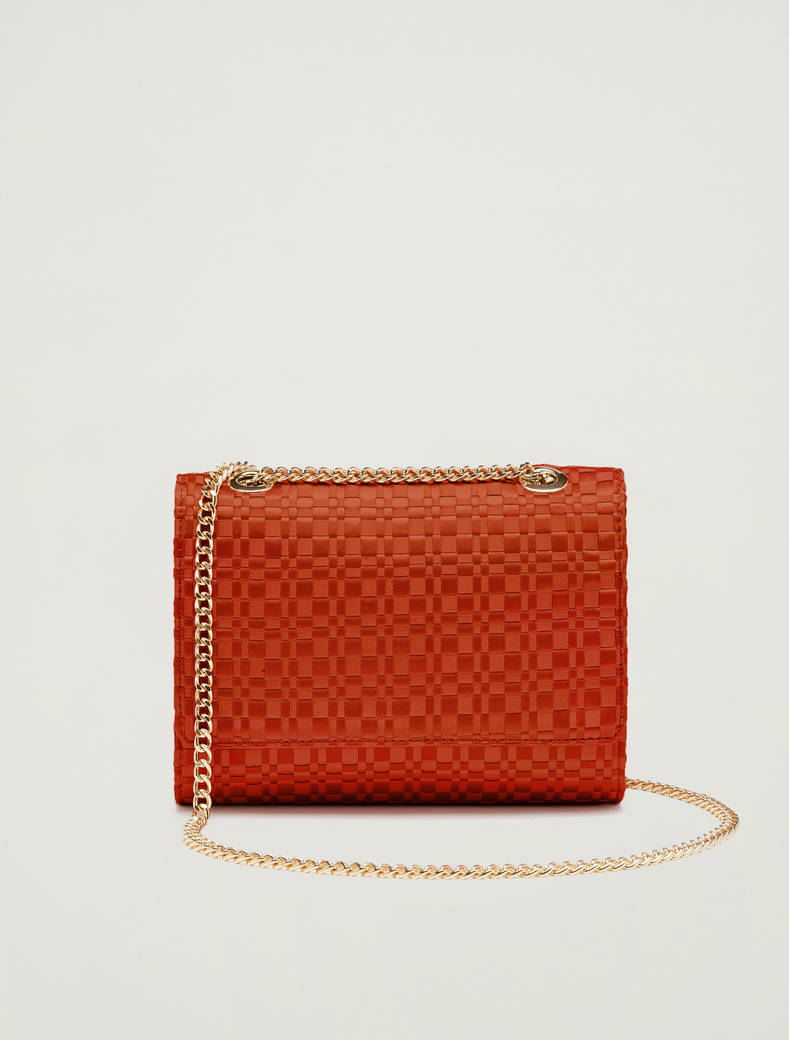 Bag in woven satin - red - pennyblack