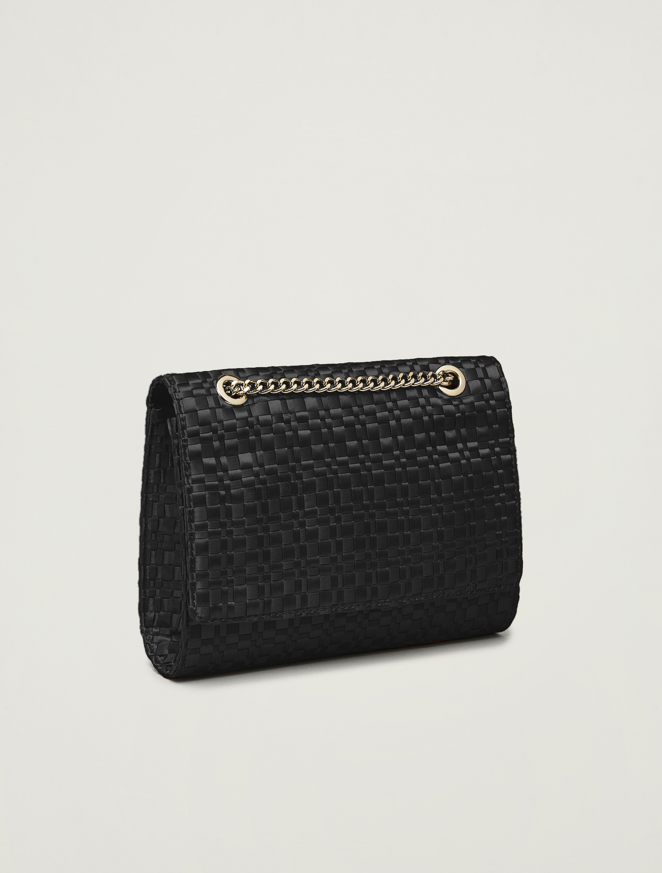 Bag in woven satin - black - pennyblack