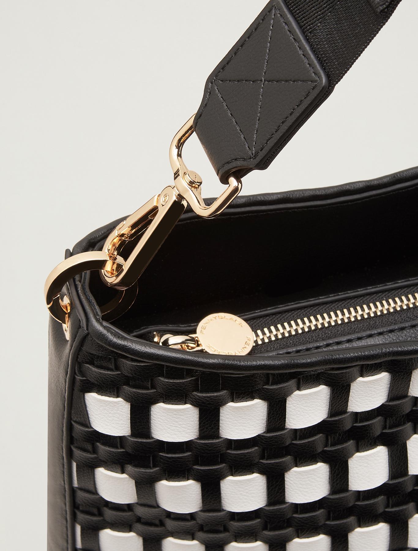 Hobo bag intrecciata - bianco - pennyblack