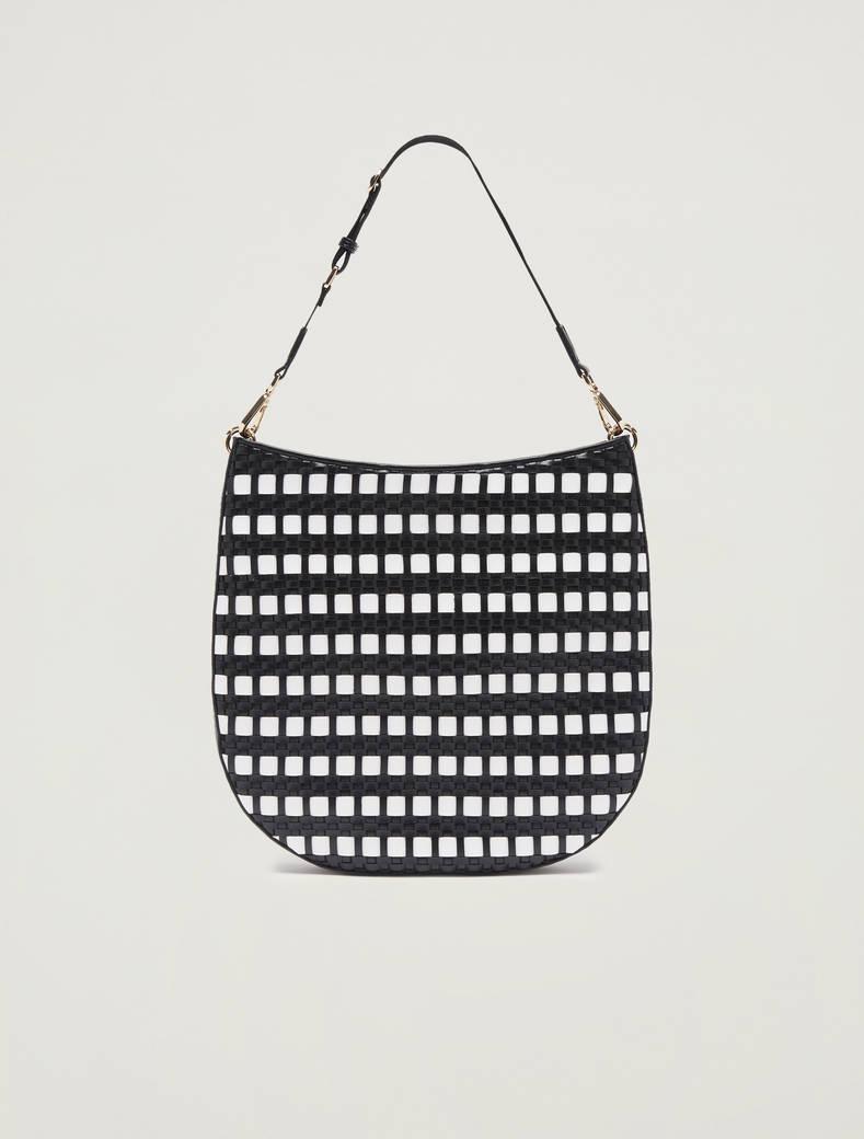 Woven hobo bag - white - pennyblack