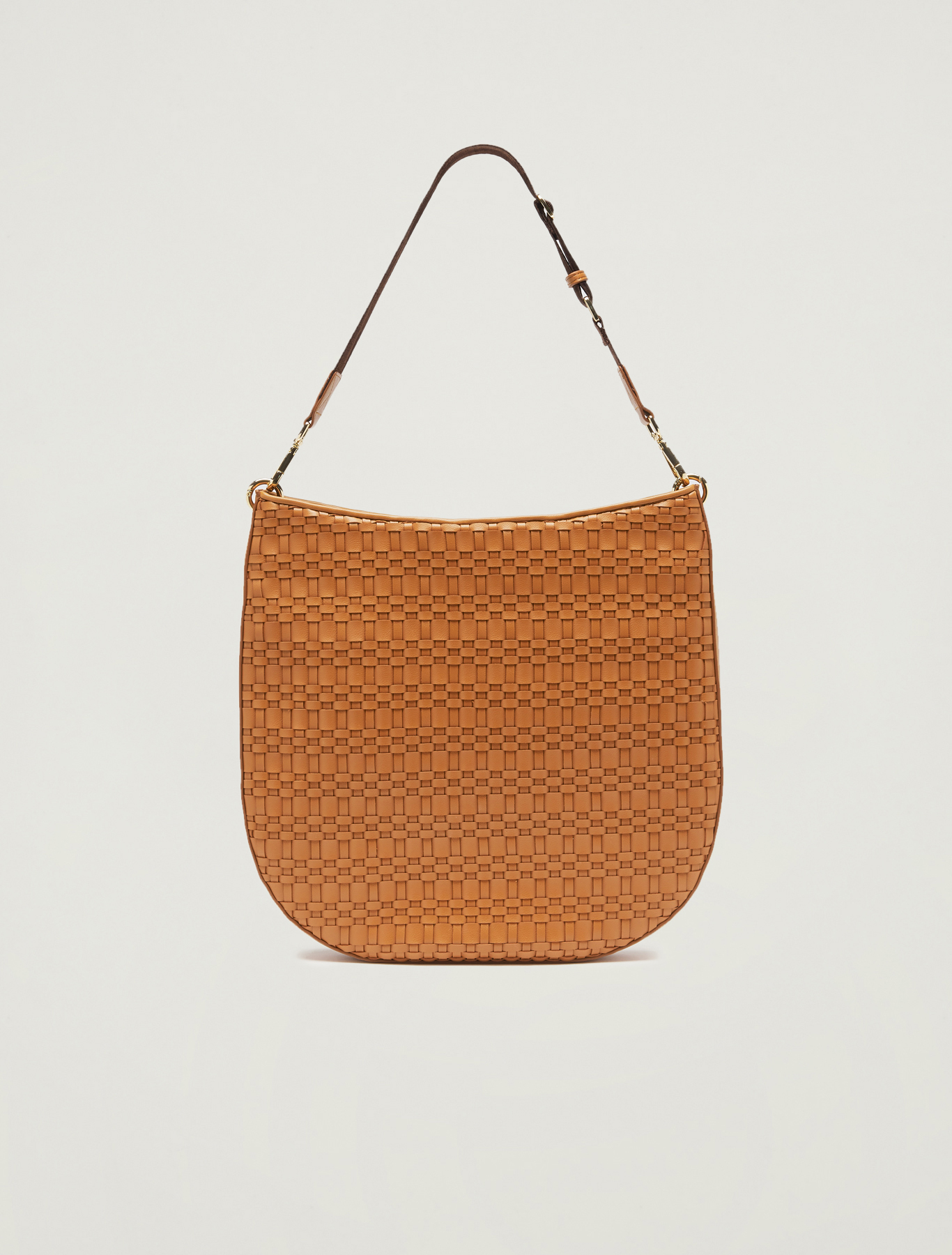 Woven hobo bag - tan - pennyblack