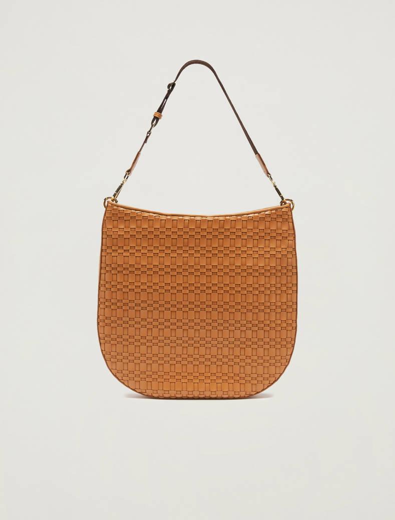 Hobo bag intrecciata - cuoio - pennyblack