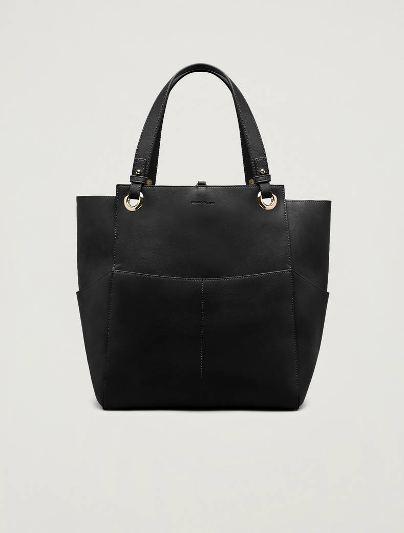 Tote bag with pockets - black - pennyblack