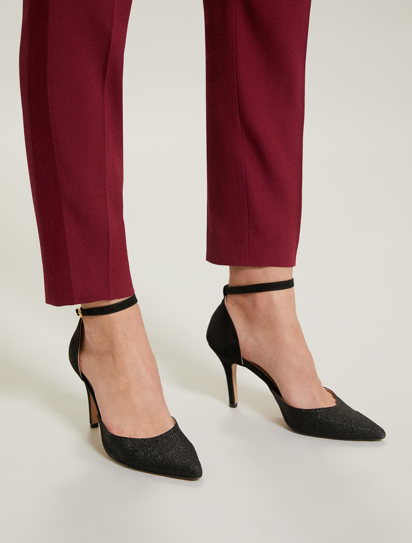 Lamé court shoes - black - pennyblack