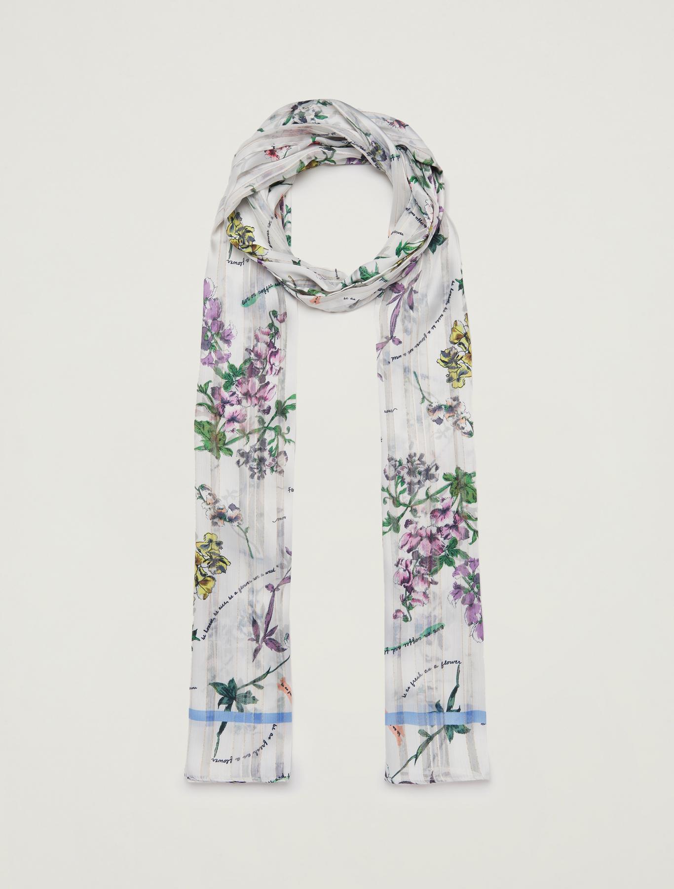 Lamé printed scarf - fuchsia - pennyblack