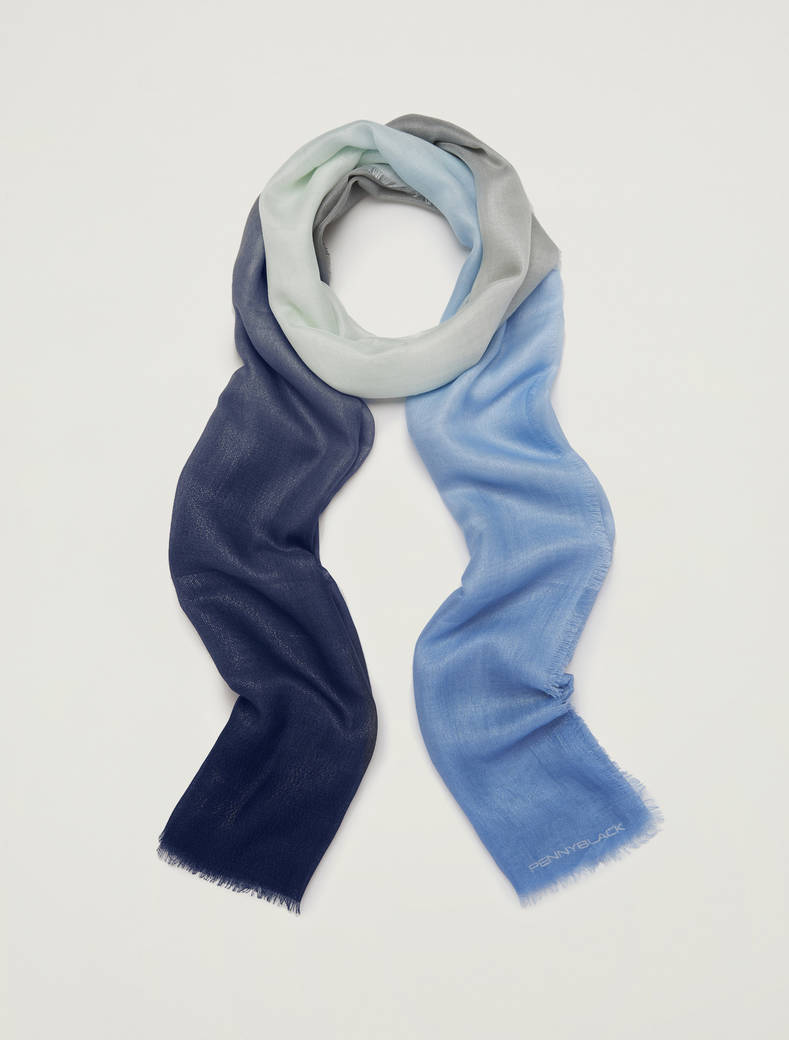 Shaded scarf - cornflower blue - pennyblack