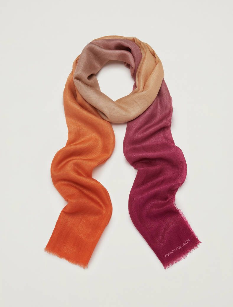 Shaded scarf - fuchsia - pennyblack