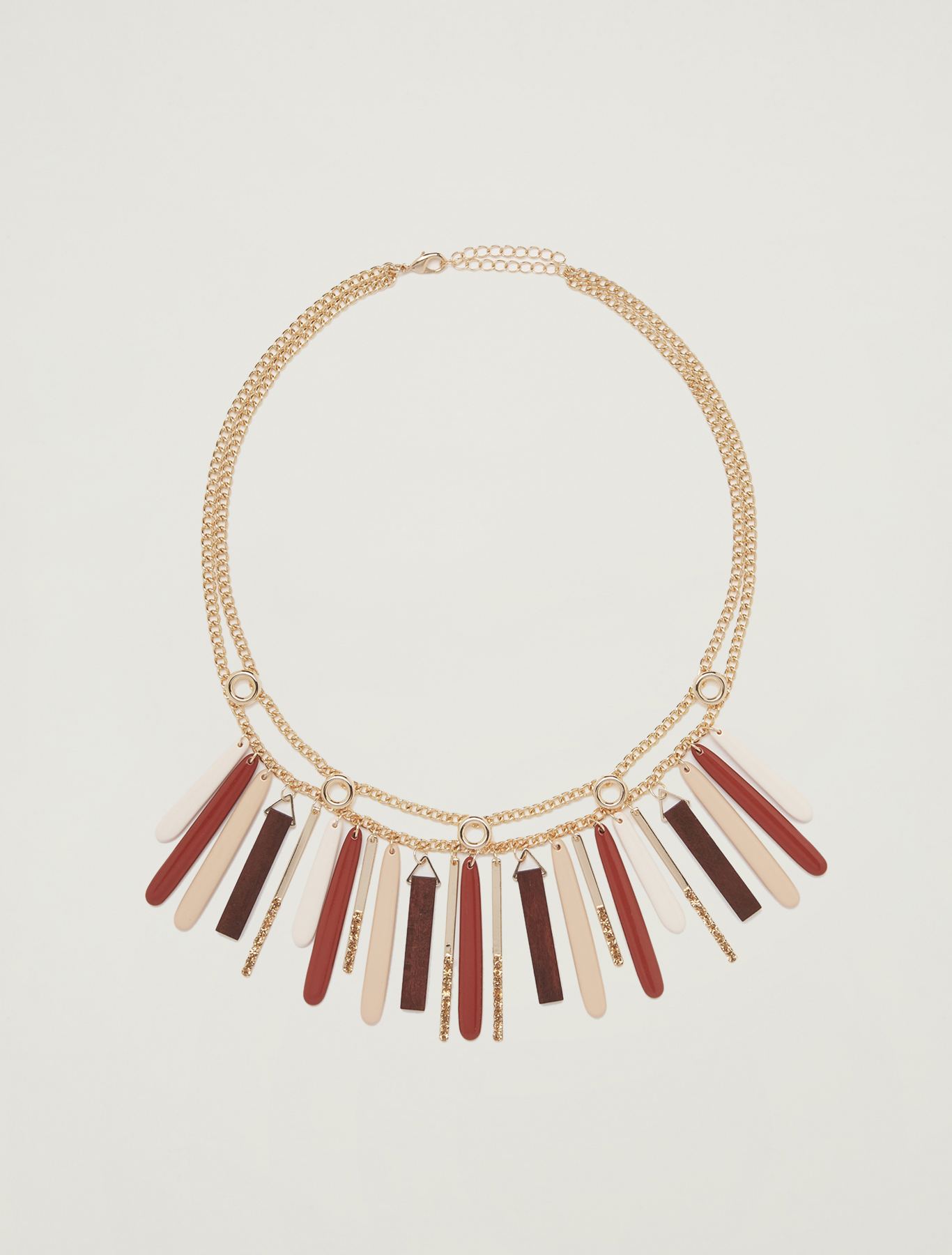 Necklace with rods - beige - pennyblack