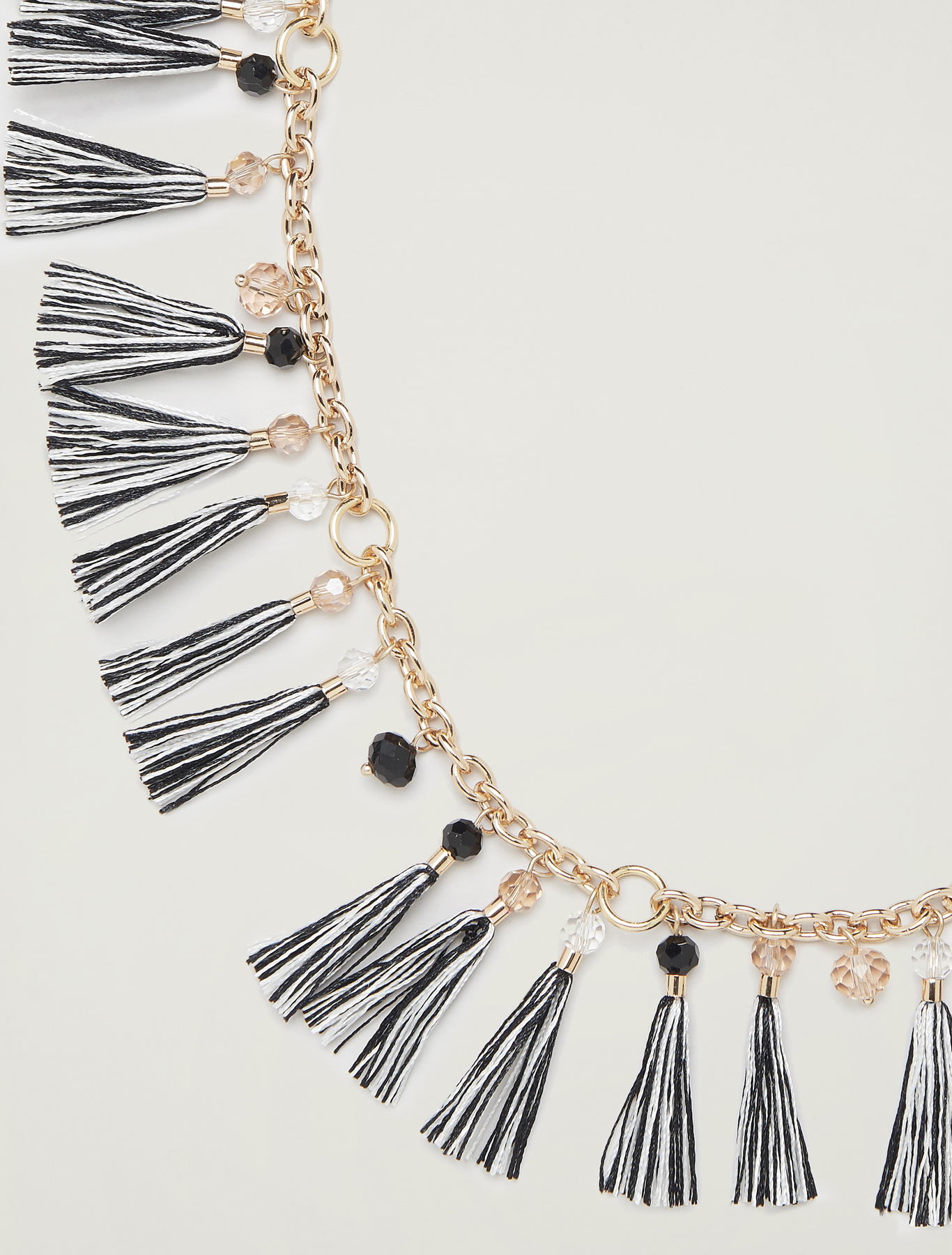 Necklace with tassels - black - pennyblack