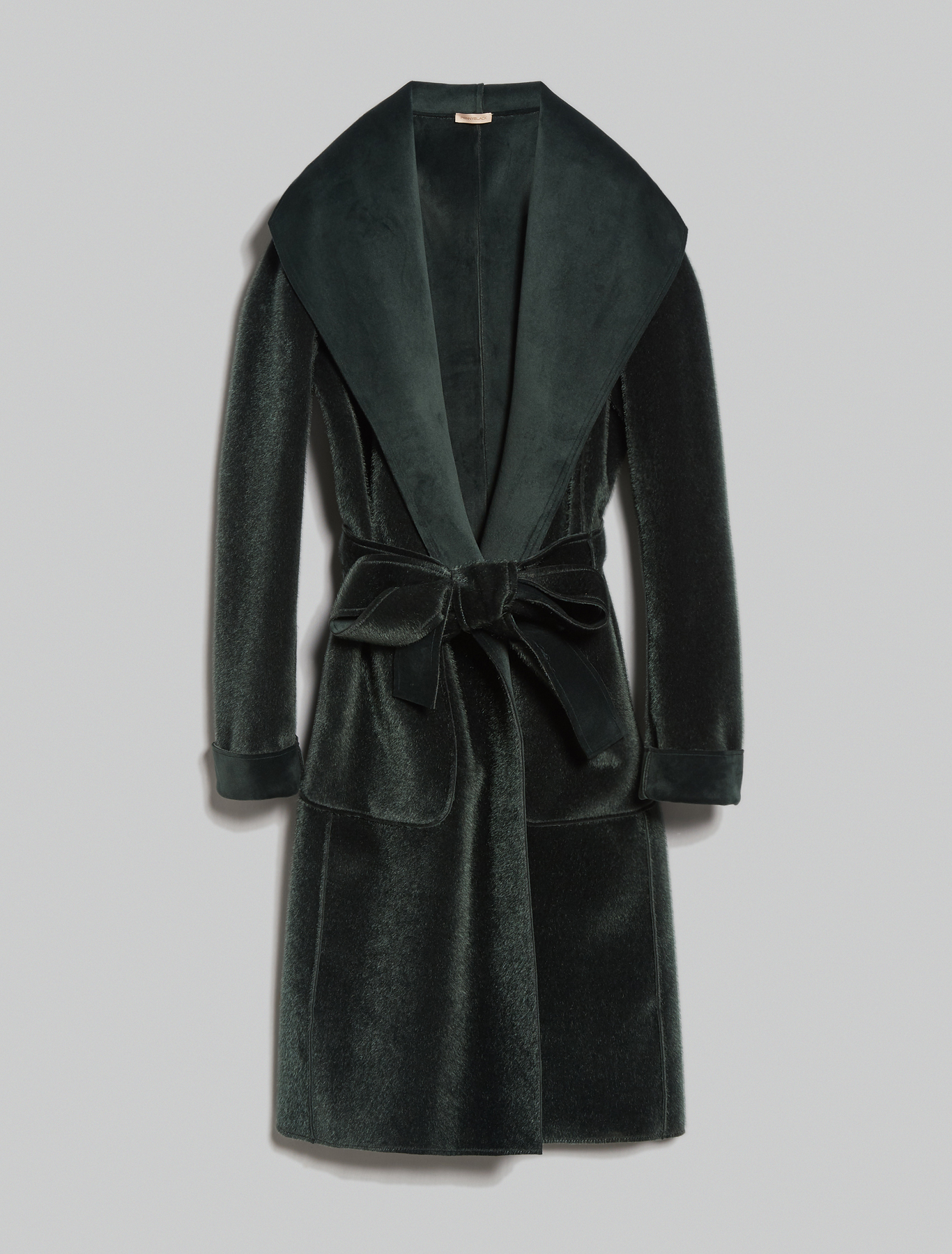Reversible velvet coat - dark green - pennyblack
