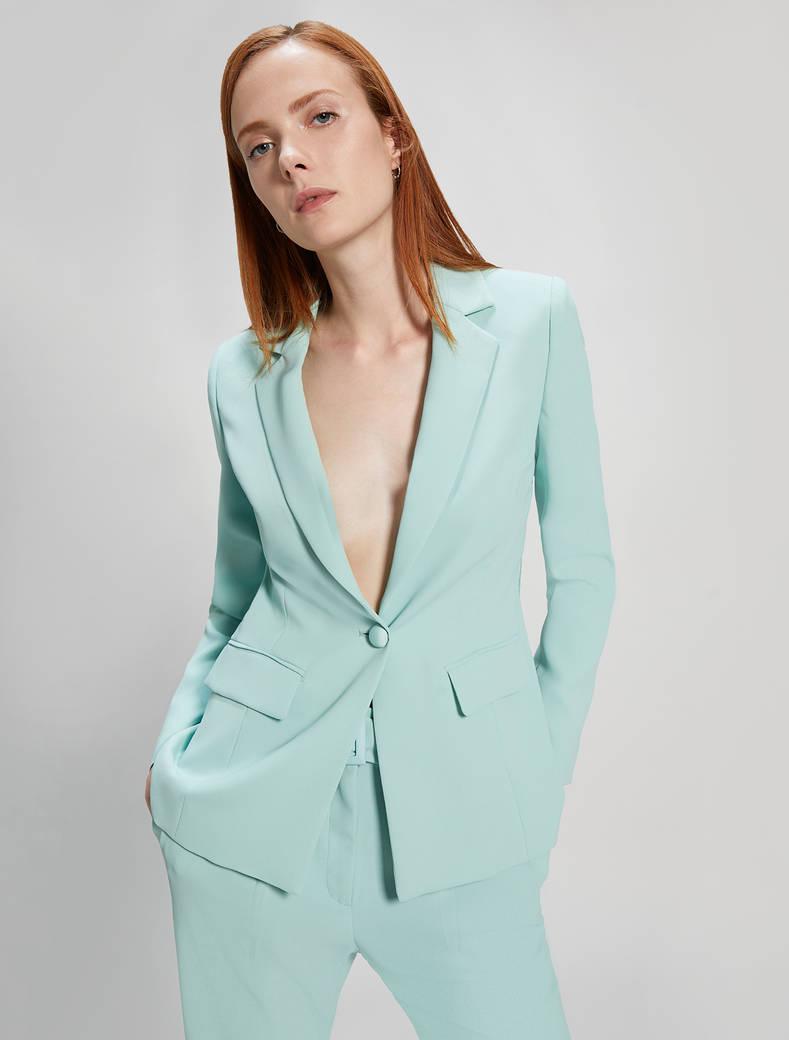 Blazer in envers satin - verde pastello - pennyblack