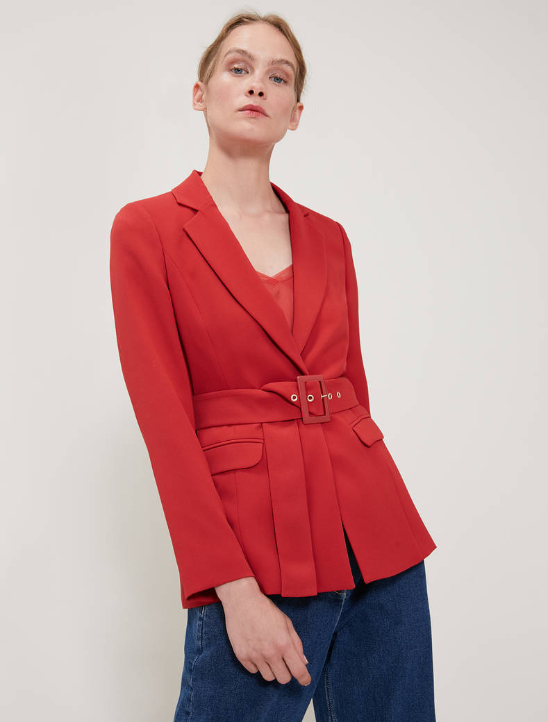 Envers satin blazer - old rose - pennyblack