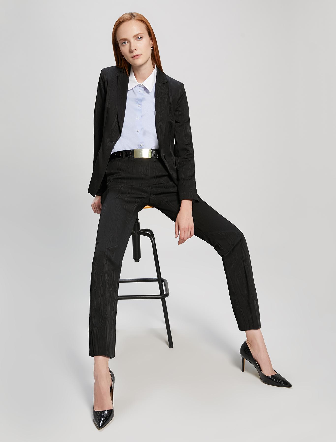 Moiré blazer - black - pennyblack