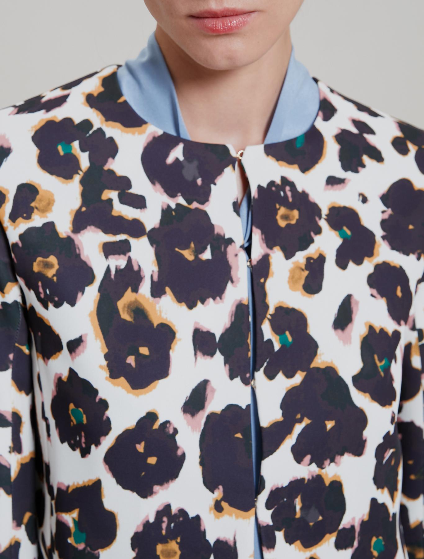 Crew neck cady jacket - beige pattern - pennyblack