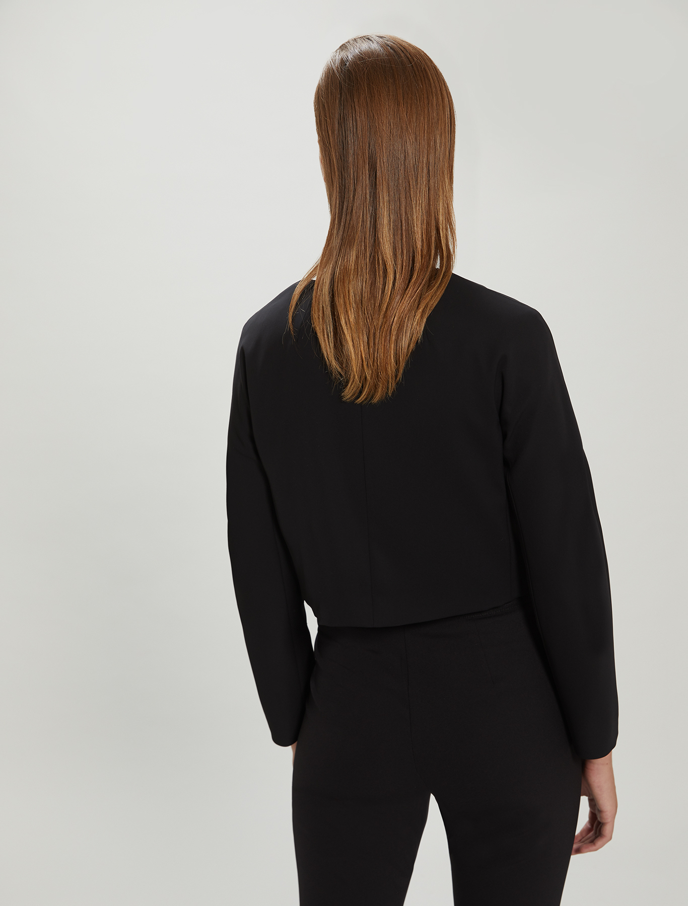 Crew neck cady jacket - black - pennyblack