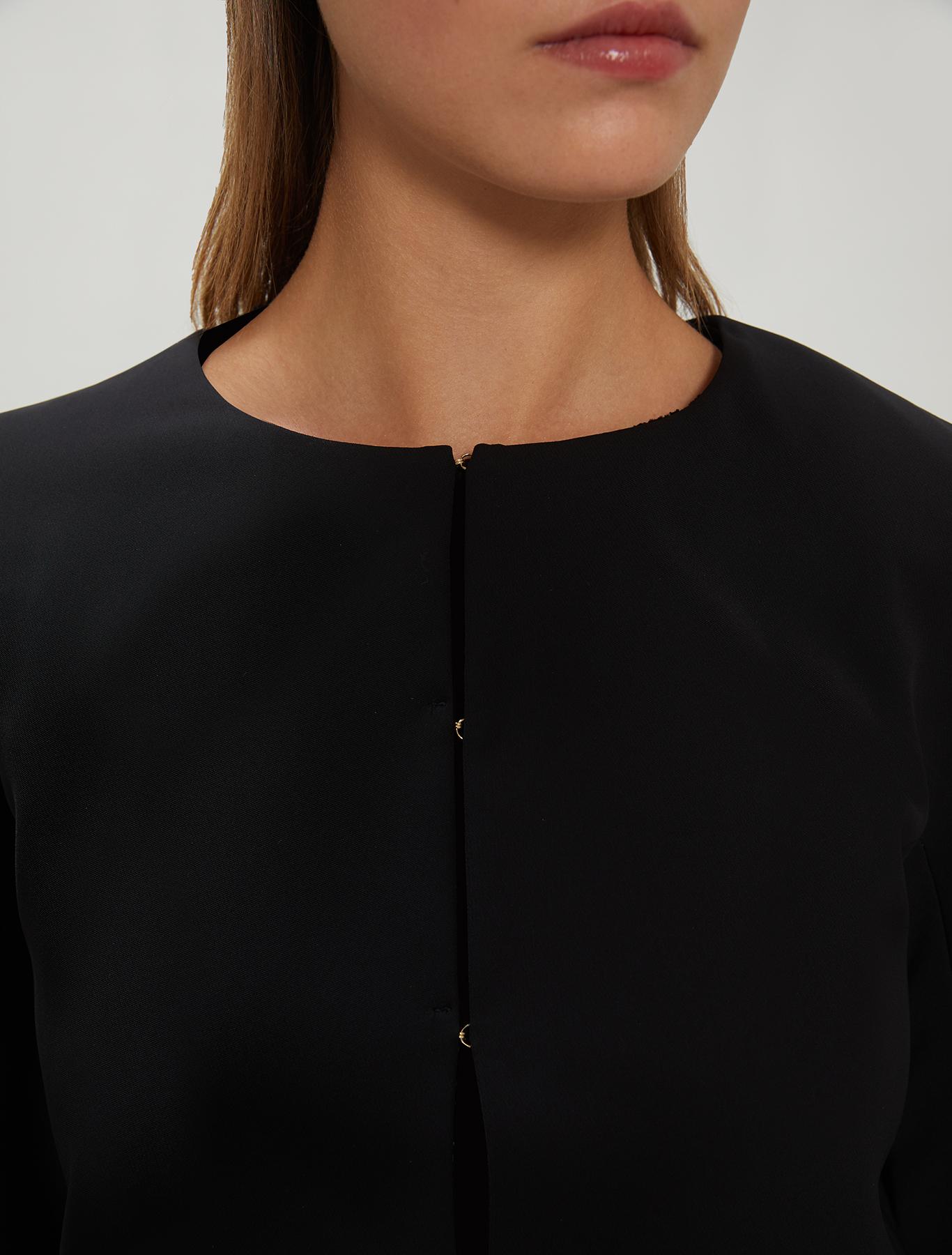 Crew neck cady jacket - black - pennyblack