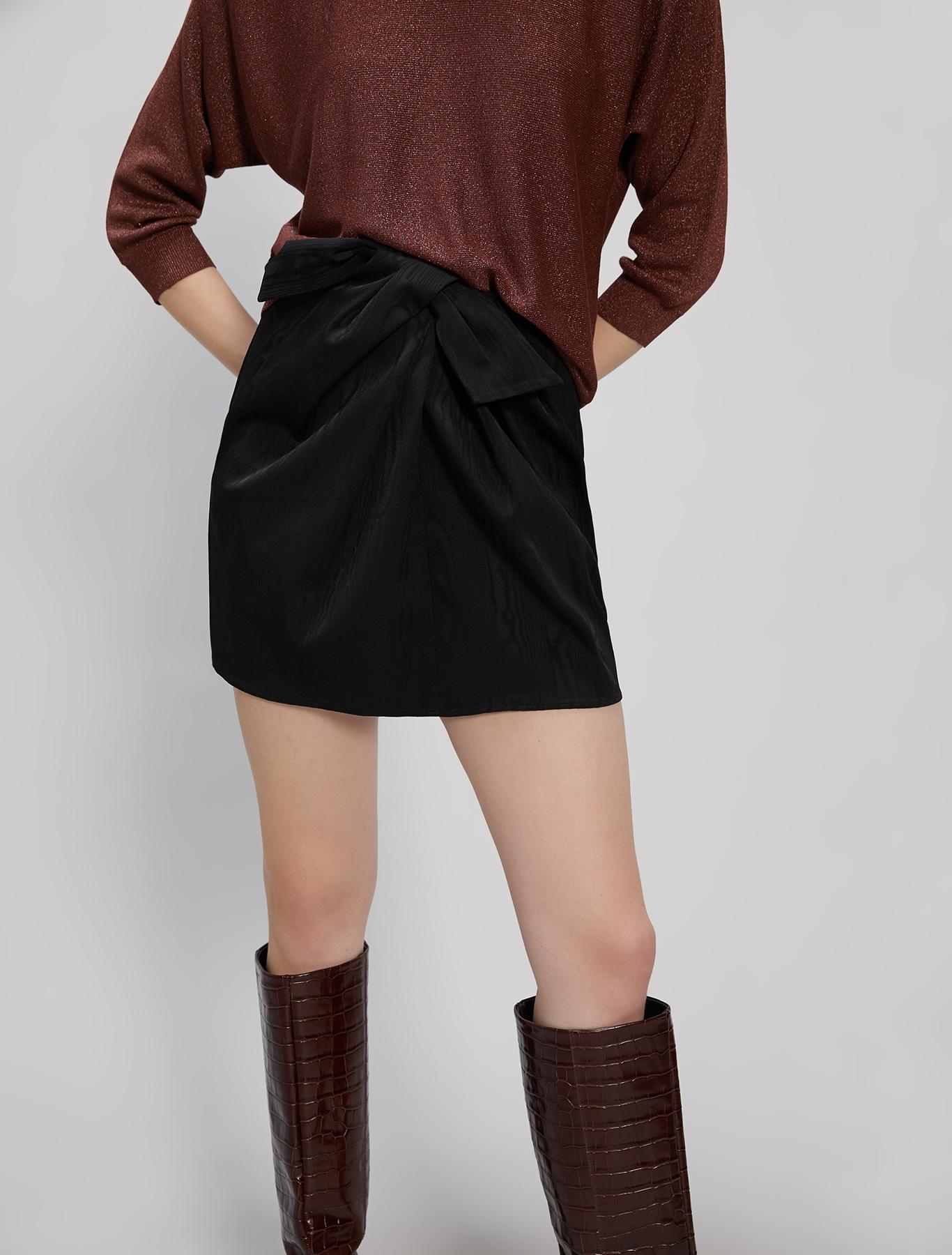 Moiré skirt - black - pennyblack