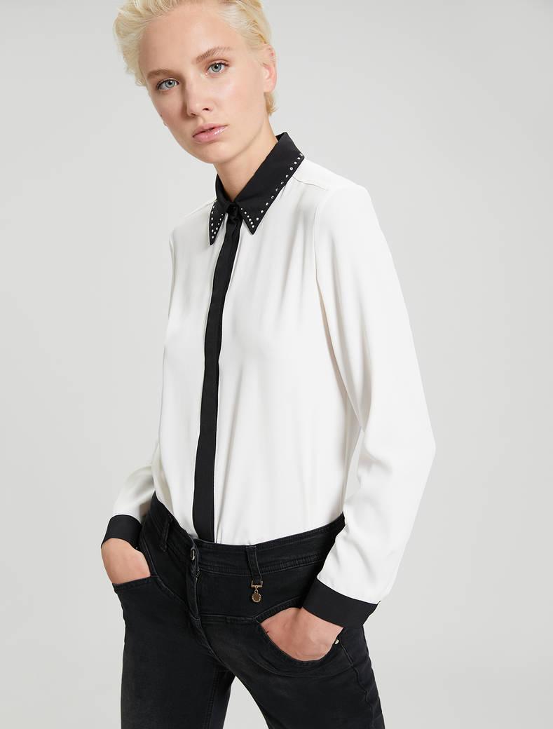 Crêpe de Chine shirt - ivory - pennyblack